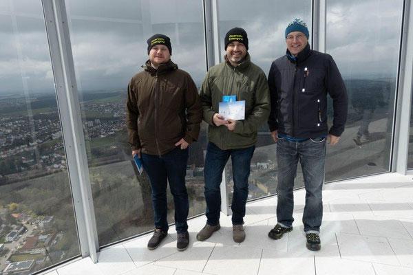 2019 Bildungsfahrt der Jugendfeuerwehr Oberallgäu - Aufzug-Test-Turm Thyssen Krupp