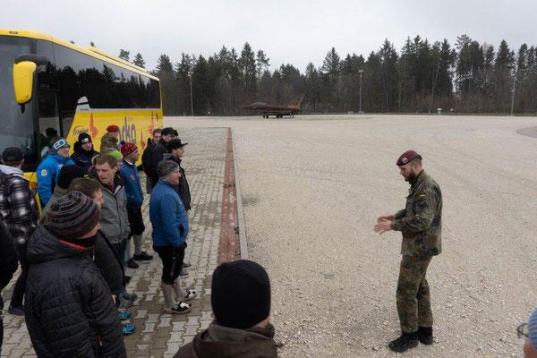 2019 Bildungsfahrt der Jugendfeuerwehr Oberallgäu - Eurofighter - Brandschutzausbildungszentrum Bundeswehr