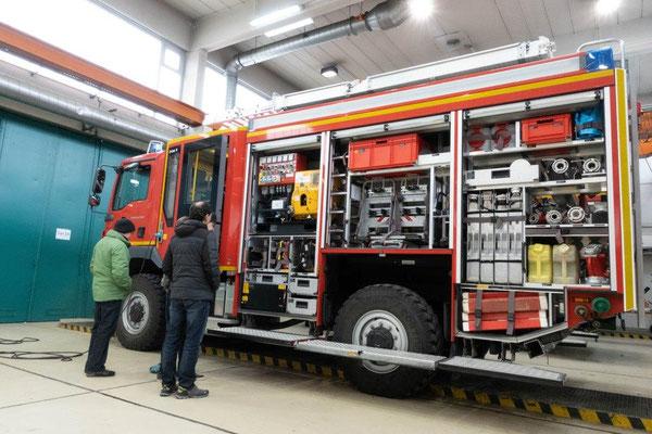 2019 Bildungsfahrt der Jugendfeuerwehr Oberallgäu - Fuhrpark - Brandschutzausbildungszentrum Bundeswehr