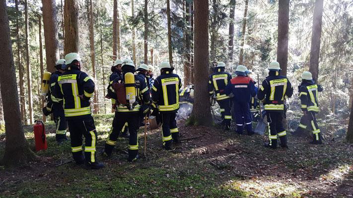 20.04.2019 Feuerwehr Ermengerst - Waldbrand - Kleinbrand - bei Prestlings