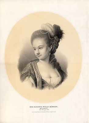 """Augusta """"Molly"""" Leonhard (1760–1786); getönte Lithographie von Payne, um 1850, gemeinfrei"""