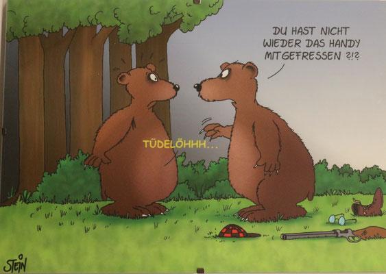 Coloriertes Bild eines Uli Stein Cartoons