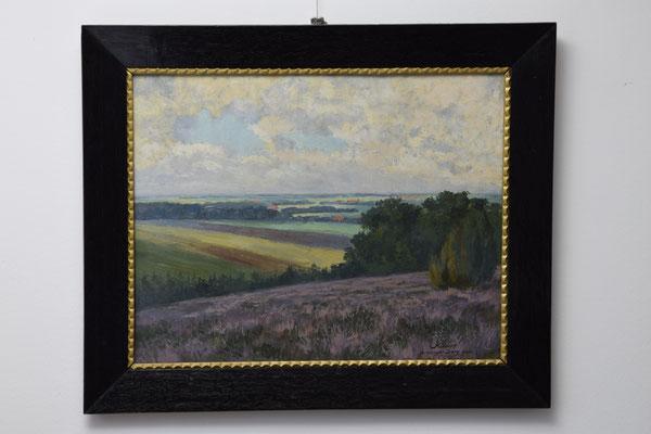 "Das Gemälde ""Brelinger Berg"" von Oskar Kiecker im Richard-Brandt-Heimatmuseum Wedemark"