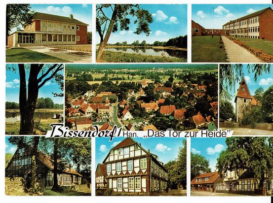 Mehrbildkarte um 1970, Bissendorf, das Tor zur Heide (aus der Sammlung von Peter Schulze, Bissendorf)