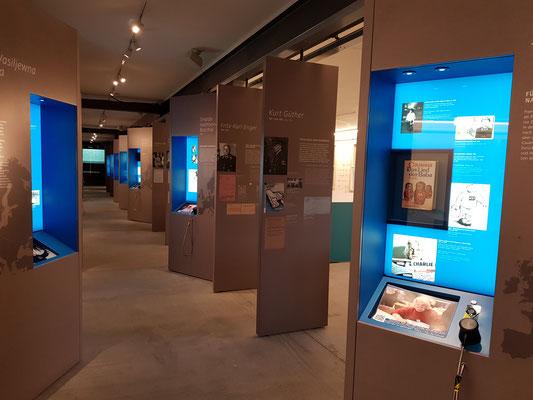 Ausstellungsimpression des Dokumentationszentrums für NS-Zwangsarbeit