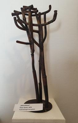 Röhrenbaum, Skulptur von Peter Greve, Kupferleitungen hart gelötet, 1975