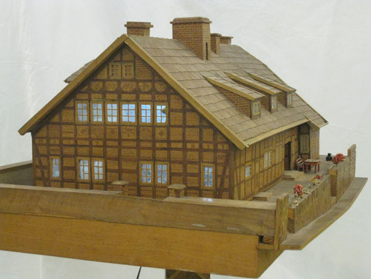 Das Modell der Krankenanstalt im Richard-Brandt-Heimatmuseum Wedemark