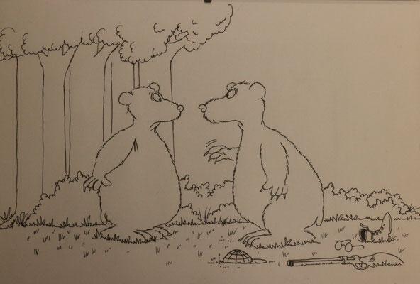 Tuschezeichnung eines Uli Stein Cartoons