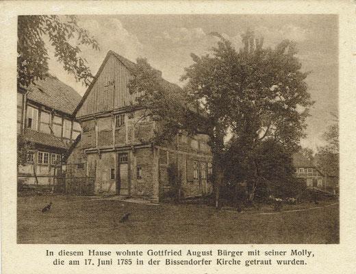 Das Kavalierhaus um 1926. Postkartenauschnitt aus der Sammlung von Peter Schulze, Bissendorf