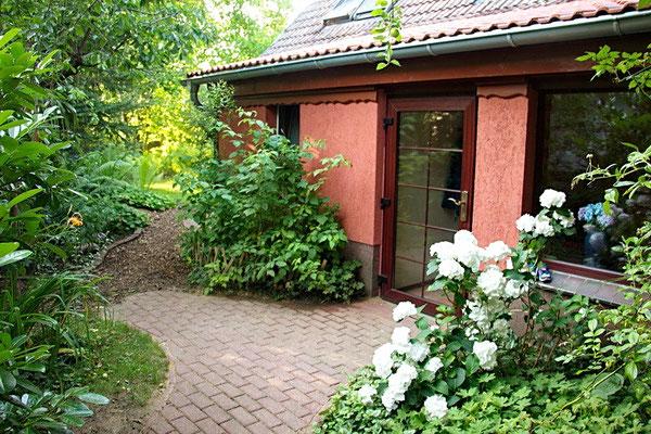 Spreewald Ferienwohnung Wendland Außenbereich Foto 2