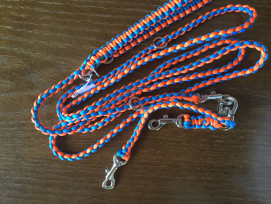 7 セーフティオレンジ×ロイヤルブルー  ダブルナスカン、袈裟懸け仕様でちょっと長め