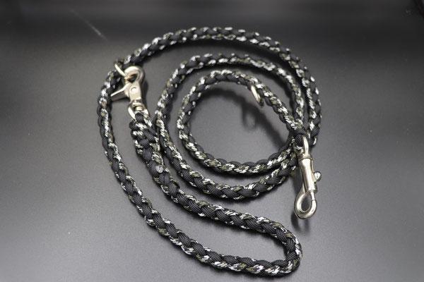 Yさんちのリード3・4 ノーマルタイプ多頭引き用レバーナスカン  ブラック×ブラックカモ