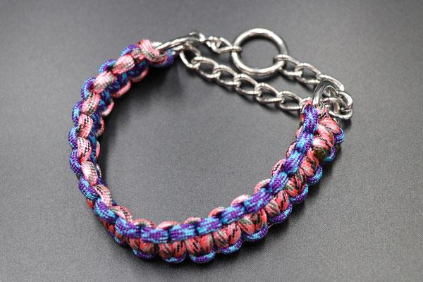 Sちゃんのハーフチョークカラー ブルーとピンクのカモを使用