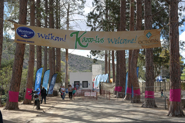 Welcome sign at the festival entrance