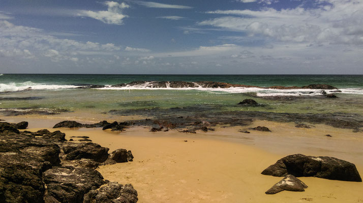 The Champagne Pools at Fraser Island! Go and relax here at low tide.