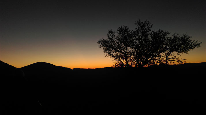A beautiful sunset in the Valley of Desolation, South Africa!