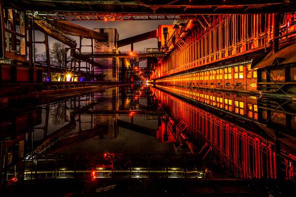 März 2018 - Abends am Koksofen der Kokerei Zollverein.