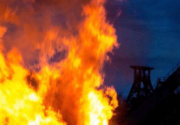 März 2016 - Osterfeuer auf Zollverein