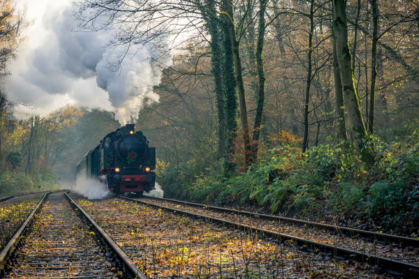 November 2019 - Die Hespertalbahn fährt 4,6 km am Baldeneysee
