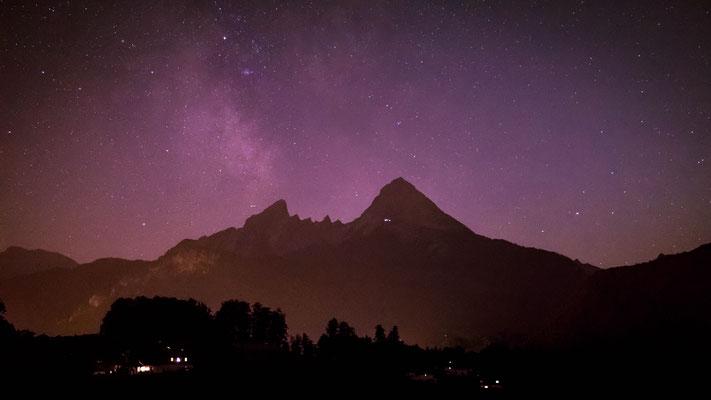 August 2018 - Urlaub in Bayern. Astrofotografie mit König Watzmann...