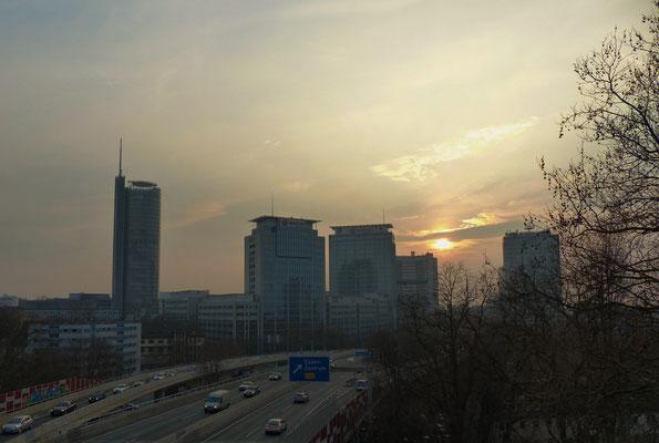 März 2015 - Essener Skyline - Danke nochmals an die netten Leute der WG im Weiglehaus