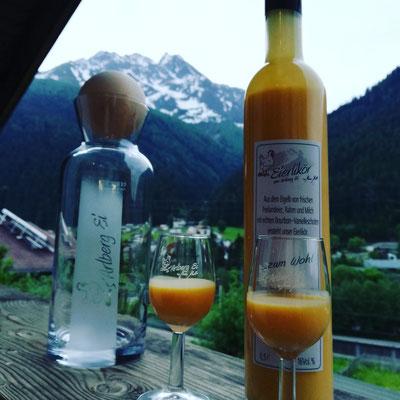 Eierlikör Eier vom Arlbergei