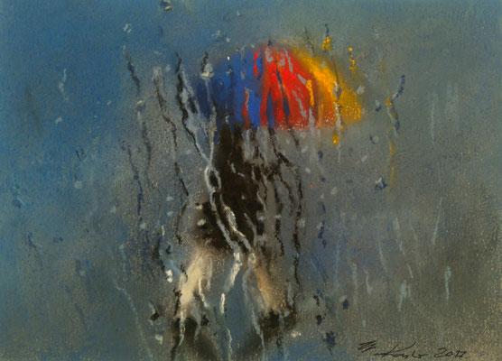 """Regen"", Pastell, 17 x 12"