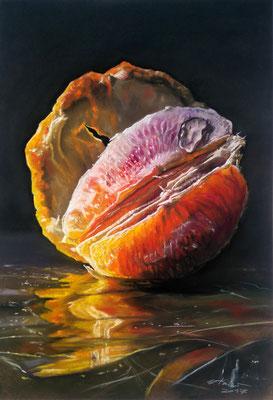 """Blutorange"", Pastell, 50 x 70"