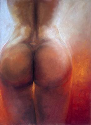 """mind the gap"", Pastell, 50 x 70"