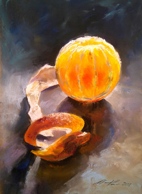 """Orange"", Pastell, 30 x 40"