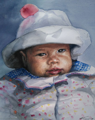 """Nina"", Aquarell, 40 x 30"