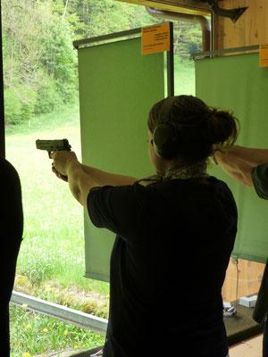 Traditionelles Pistolenschiessen