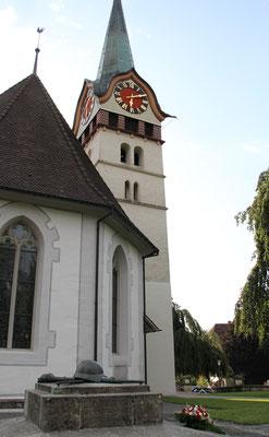 Soldatendenkmal bei der reformierten Kirche Langnau