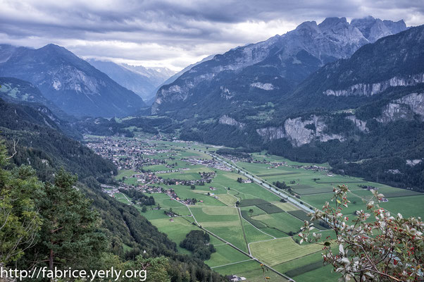 Descent of the Brunig pass on the Meiringen side (BE) 2020