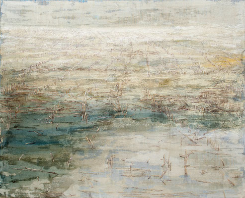 o. T., 2011, Mischtechnik auf Leinwand, 160x130 cm