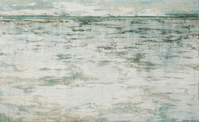 o. T., 2012, Mischtechnik auf Leinwand, 180x100 cm