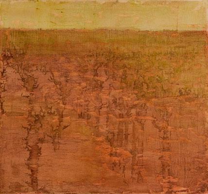 o. T., 2008, Mischtechnik auf Leinwand, 140x130 cm