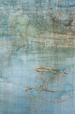 o.T., (Detail) 2014 Mischtechnik auf Leinwand, Triptychon 270  x 130 cm
