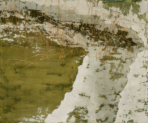 o. T., 2009, Mischtechnik auf Leinwand, 120x120 cm