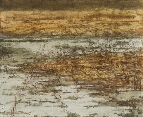 o. T., 2009, Mischtechnik auf Leinwand, 160x130 cm