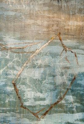 o. T. (Detail), 2012, Mischtechnik auf Leinwand, 300x150 cm