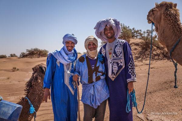 Les hommes bleus du Sahara, sahraouie du désert