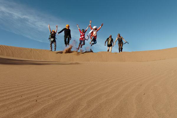 Descente de dunes Sahara Maroc