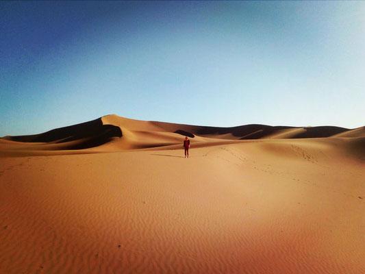 Voyage en silence désert marocain