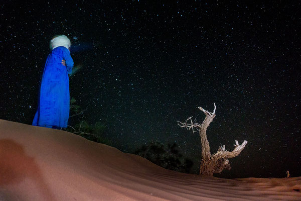 Bivouac sous les étoiles Sahara