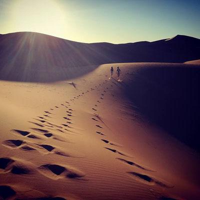 Course dans les dunes