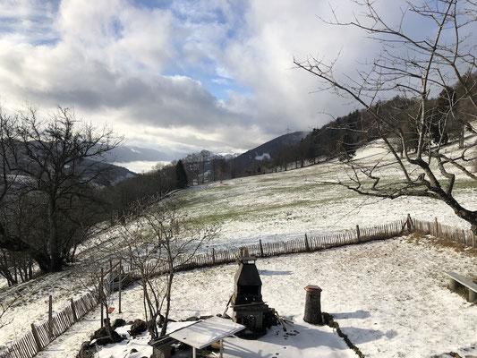 Der warme Westwind lässt den Schnee schmelzen