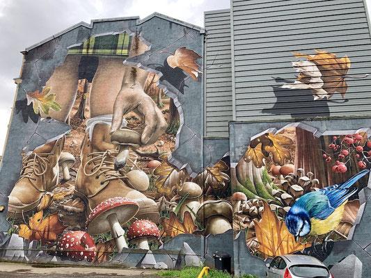 Die Grafittis sind wunderschön gestaltet
