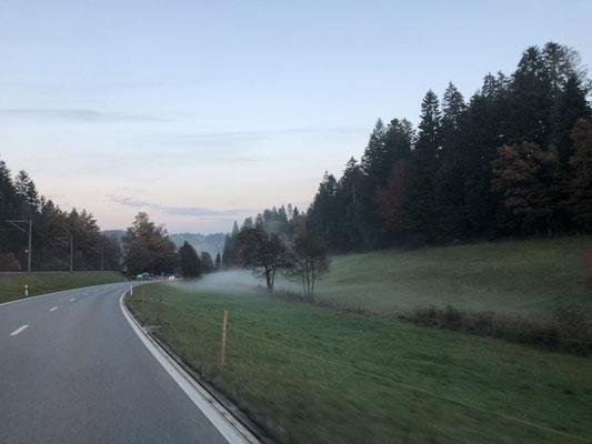 Nebel zieht bereits wieder auf
