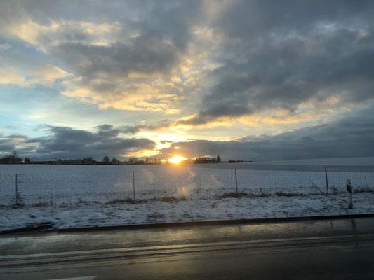 Die Sonne zeigte sich kurz